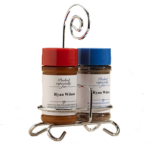 Seasoned Salt & Pepper with Caddy <br>Can Be Personalized